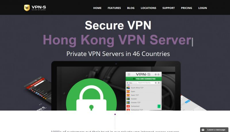 vpnsecure.me Screenshot
