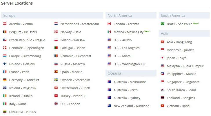 Vypr VPN Countries