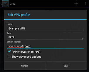 Setting up VPN on Android Devices